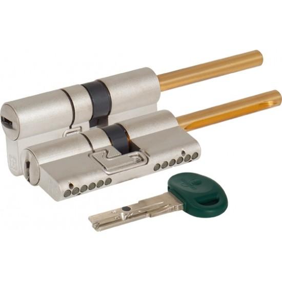 Цилиндровый механизм под вертушку (дл. шток) MOTTURA C31P313101C5 (62 мм/26+10+26) МАТ.НИКЕЛЬ