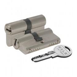 Цилиндровый механизм KALE KILIT 164 SN/70 (30+10+30) mm никель 5 кл.