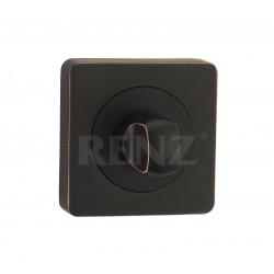 Завертка к ручкам квадратная RENZ BK 02. ABB черная бронза с патиной