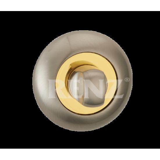 Завертка к ручкам RENZ BK (N) 08. SN/GP никель матовый/латунь блестящая