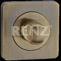 Завертка к ручкам квадратная RENZ BK 02. AB бронза античная