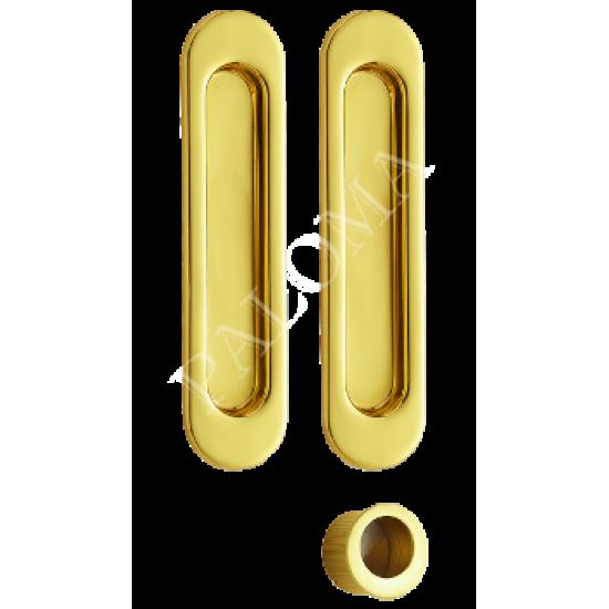 Ручки для раздвижных дверей PALOMA SDH 401. PB латунь блестящая