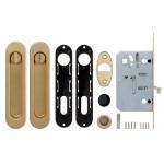 Набор для раздвижных дверей ARMADILLO SH011-BK SG-1 Матовое золото