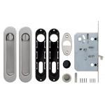 Набор для раздвижных дверей ARMADILLO SH011-BK SN-3 Матовый никель