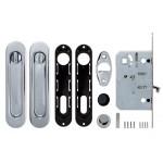 Набор для раздвижных дверей ARMADILLO SH011-BK СP-8 Хром