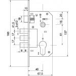 Корпус замка в комплекте с ручкой FUARO SET F1511W/B CP Хром
