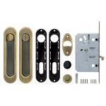 Набор для раздвижных дверей ARMADILLO SH011-BK WAB-11 Матовая бронза