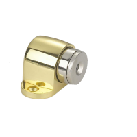 Ограничитель дверной напольный, магнитный RENZ DSM 32. PB латунь блестящая