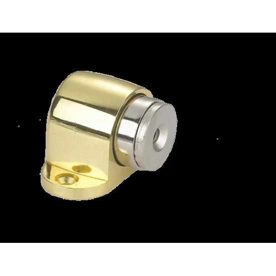Ограничитель дверной напольный, магнитный RENZ DSM 32. SN никель матовый