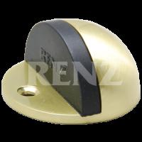 Ограничитель дверной напольный RENZ DS 44. SB латунь матовая