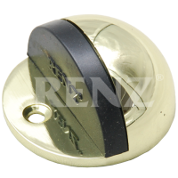 Ограничитель дверной напольный RENZ DS 44. PB латунь блестящая