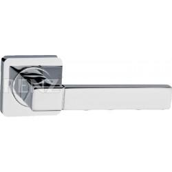 Ручка дверная RENZ «МИЛАН» DH 51-02 хром матовый/хром блестящий