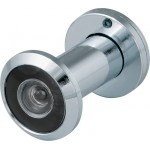Дверной глазок FUARO DVZ1, 16/200/35x60 угол обзора 200. CP Хром