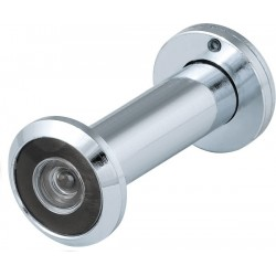 Дверной глазок FUARO DVZ3, 16/200/50x90 угол обзора 200 CP Хром