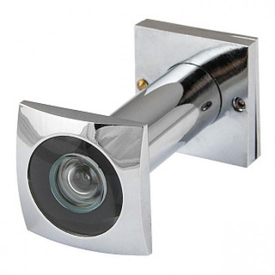 Глазок дверной КВАДРАТНЫЙ ARMADILLO DVG5 SQ, 16/50х80 СР Хром