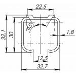 Верхняя направляющая ARMADILLO Comfort R 60/1,8/2000 track (2 м)