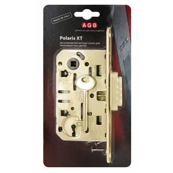 B04101.50.03 (=B06101) Замок межкомнатный под ключ (латунь) с отв. пл. B01402.05.03 MEDIANA POLARIS