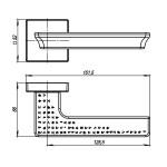 Ручка раздельная ARMADILLO MATRIX USQ7 CP-8 Хром
