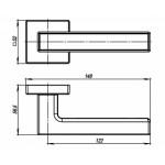 Ручка раздельная ARMADILLO SCREEN USQ8 BB/BB/SBB-17 Кор. бронза/Кор. Бронза/Мат.Кор бронза