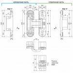 Дверная петля скрытой установки E30200.03.03 (латунь) петля ECLIPSE 2.0 (4 накладки в комплекте)
