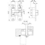 Петля скрытой установки с 3D-регулировкой ARMADILLO Architect 3D-ACH 60 BL Черный лев. 60 кг.