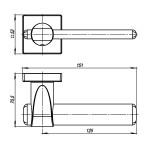 Ручка раздельная ARMADILLO AJAX USQ1 SN/CP/SN-12 Матовый никель/Хром/Матовый никель