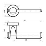 Ручка раздельная ARMADILLO AJAX URB1 АВ-7 Бронза
