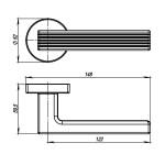 Ручка раздельная ARMADILLO LINE URB6 BPVD-77 Вороненый никель