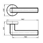 Ручка раздельная ARMADILLO CUBE URB3 CP/White-14 Хром/белый