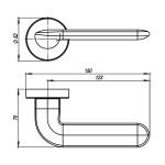 Ручка раздельная ARMADILLO EXCALIBUR URB4 SN-3 Матовый никель
