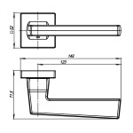 Ручка раздельная ARMADILLO GROOVE USQ5 BB/SBB/BB -17 Кор. бронза/Мат. кор бронза/Кор. бронза