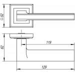 Ручка раздельная PUNTO BLADE QL GR/CP-23 графит/хром