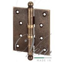 136OA403 Петля дверная универсальная стальная с колпачком ALDEGHI 102x76x3 матовая античная бронза