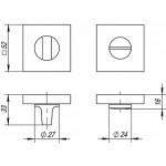 Ручка поворотная FUARO BK6 DM CP-8 хром
