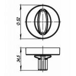 Ручка поворотная ARMADILLO WC-BOLT BK6/URB BPVD-77 Вороненый никель