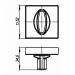 Ручка поворотная ARMADILLO WC-BOLT BK6/USQ BB-17 Коричневая бронза