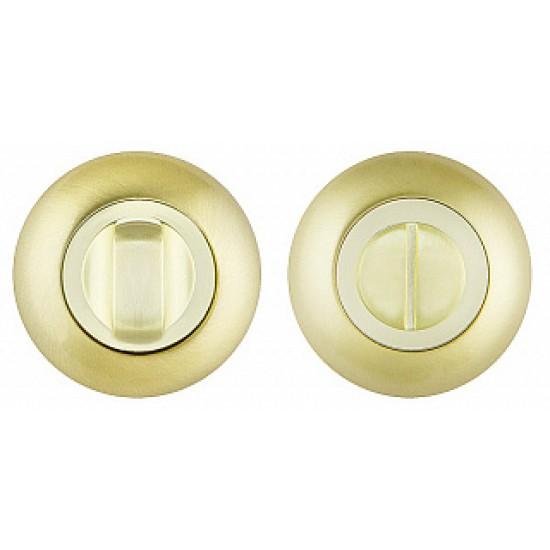 Ручка поворотная FUARO BK6 RM SG/GP-4 матовое золото / золото