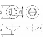 Ручка поворотная FUARO BK6 RM SN/CP-3  Матовый никель/хром
