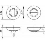 Ручка поворотная FUARO BK6 RM SC/CP-16 матовый хром/хром