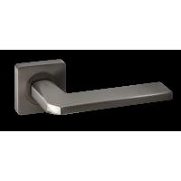 Дверная ручка Renz Кераско INDH 97-02 MBN/CP, матовый черный никель/хром блестящий