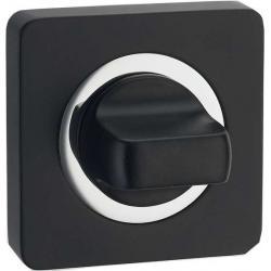 Завертка Renz INBK 02 MBN/CP матовый черный никель/хром блестящий