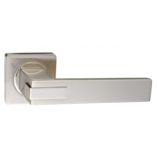 Ручка дверная RENZ Катания DH 301-02 SN/NP никель матовый/никель блестящий