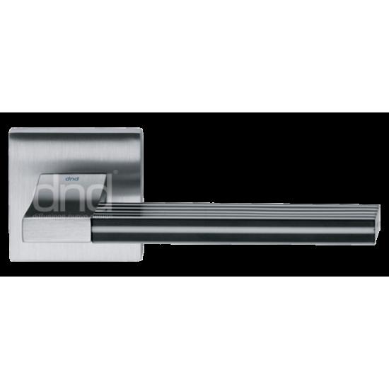 """Ручка дверная DND """"ДЖОРДЖИО"""" CH14+INS. 03 OC хром блестящий с пластиковой вставкой"""