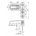 Петля для профильных дверей FUARO NP-3D-108 PVC-BR (КОРИЧНЕВАЯ, RAL-8019) до 120 кг