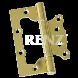 Петля стальная НАКЛАДНАЯ (без врезки) RENZ 100-2BB FH. PB латунь блестящая