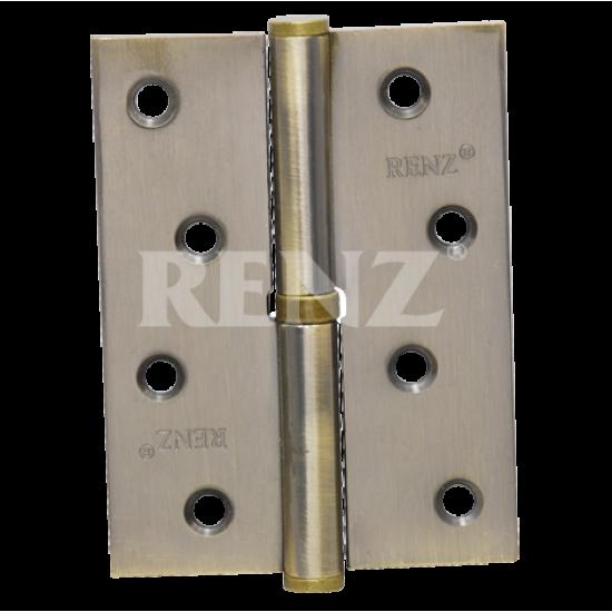 Петля стальная разъемная без колпачка RENZ R 100 FH  AB бронза античная правая