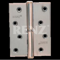 Петля стальная разъемная без колпачка RENZ L 100 FH  AC медь античная левая