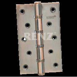 Петля стальная 125мм., универсальная, без колпачка RENZ 125-4BB FH.  AC медь античная