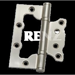Петля стальная НАКЛАДНАЯ (без врезки) RENZ 100-2BB FH. SN никель матовый