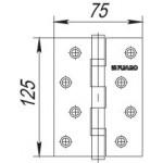 Петля универсальная FUARO 2BB 125x75x2,5 PB (латунь)